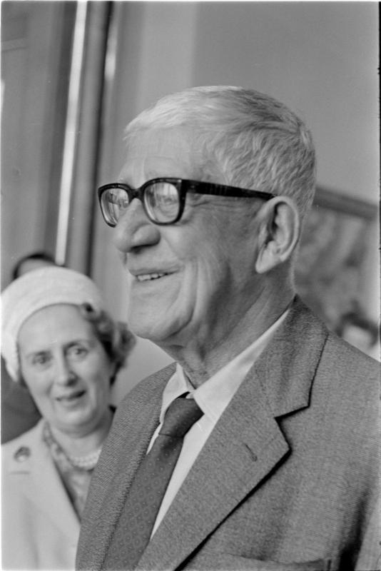 85. Geburtstag von Oskar Kokoschka, Porträt des Künstlers von Kern, Fritz