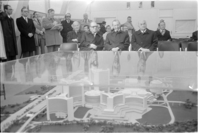 Modell der UNO-City von Kern, Fritz