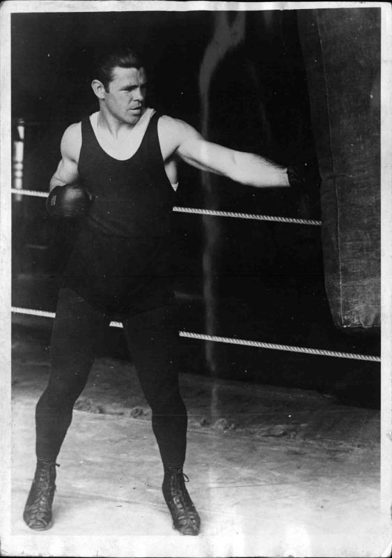 Mickey Walker beim Box-Training von New York Times Photo