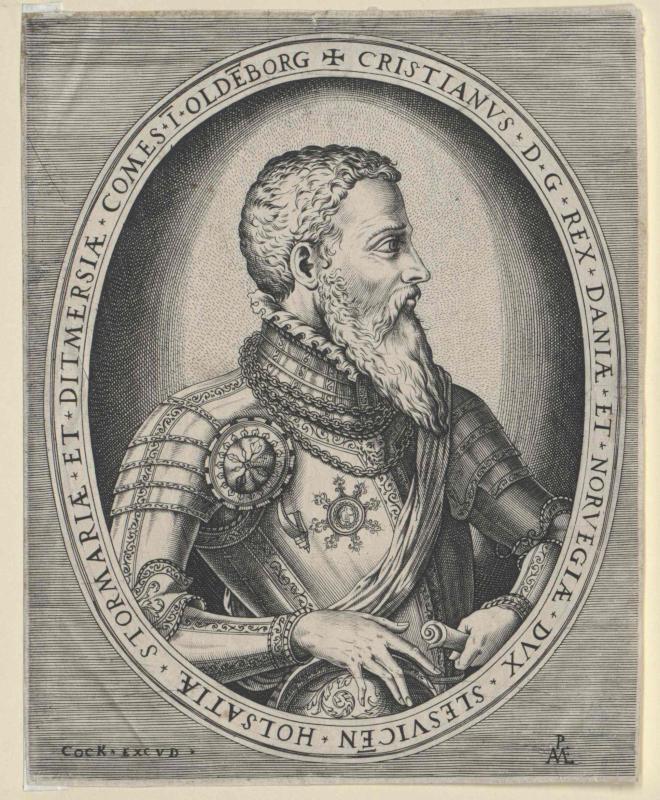 Christian III., König von Dänemark von Cock, Hieronymus