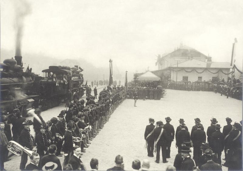 Eröffnung der Nordrampe der Tauernbahn von Würthle & Sohn