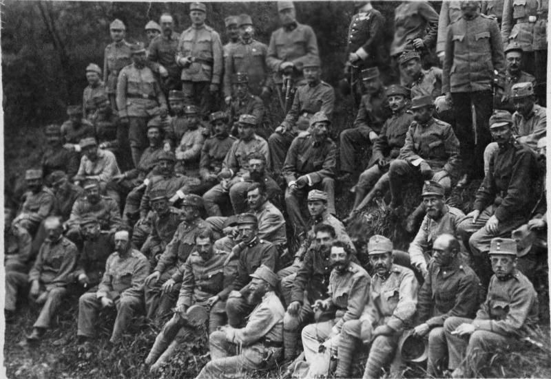 Arnold Schönberg als Soldat von Töke, August