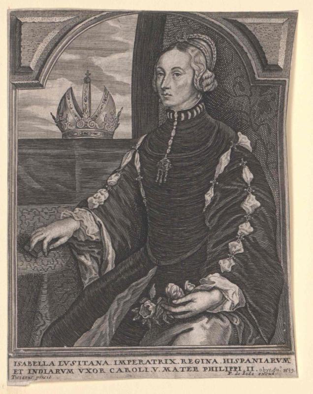 Isabella, Infantin von Portugal von Vecellio, Tiziano