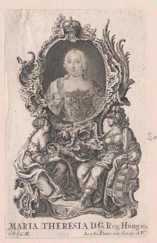 Maria Theresia, römisch-deutsche Kaiserin von Klauber, Johann Baptist
