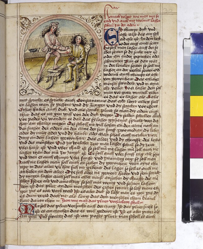 Cod. 3085, fol. 30r: Speculum humanae salvationis u. a.