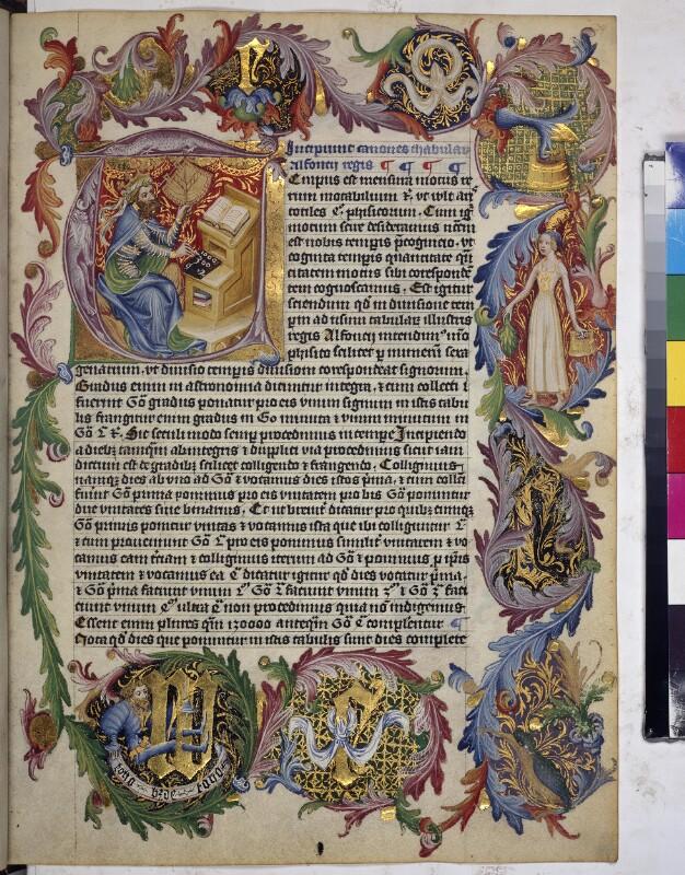 Cod. 2352, fol. 34r: Astronomische Sammelhandschrift, u. a. Sterntafeln