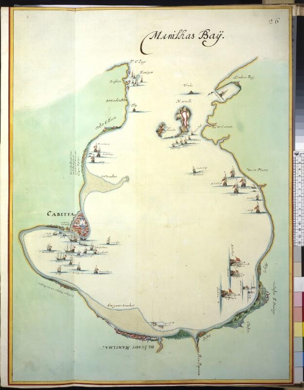 Landkarte der Bucht von Manila von Vingboons, Johannes