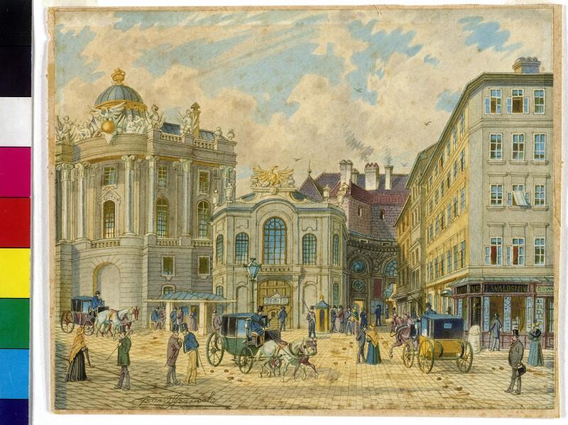 Michaelerplatz in Wien von Gerasch, Franz