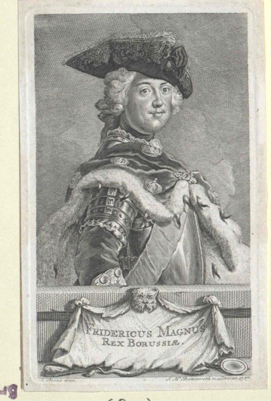Friedrich II., König von Preussen von Bernigeroth, Johann Martin