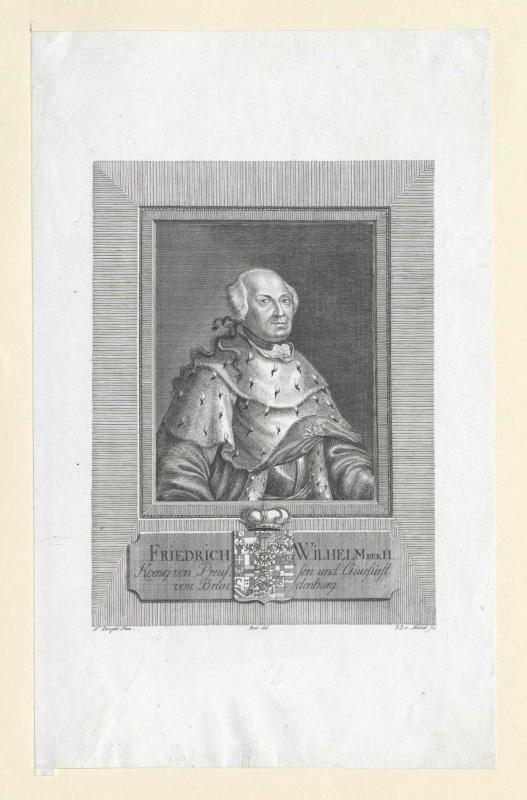 Friedrich Wilhelm II., König von Preußen von Mechel, Johann Jakob von