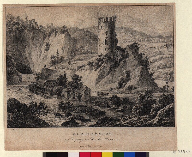 Kleinhäusel am Ursprung der Unz bei Planina von Schubert, Karl