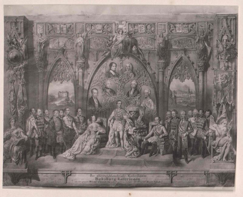 Gruppenbild Stammbaum Habsburg-Lothringen