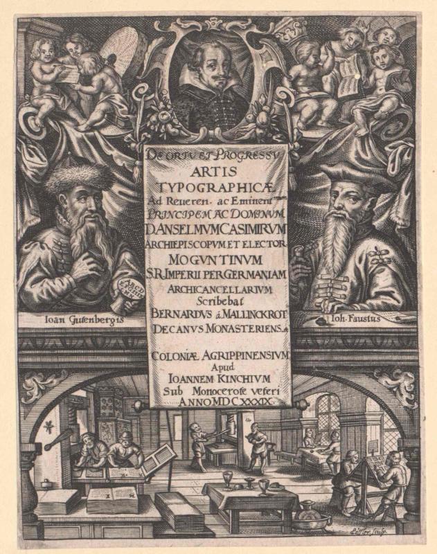 Gutenberg, Johann Gensfleisch von Löffler, Johann Eckhard