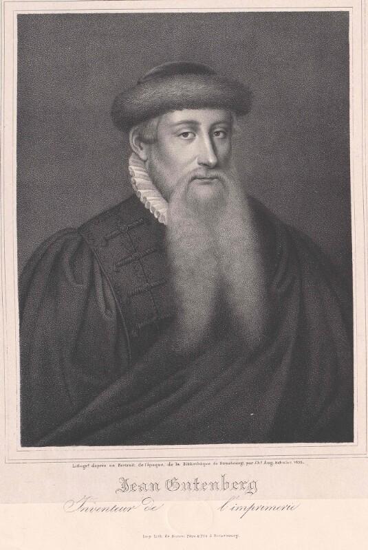 Gutenberg, Johann Gensfleisch von Schuler, Charles Auguste