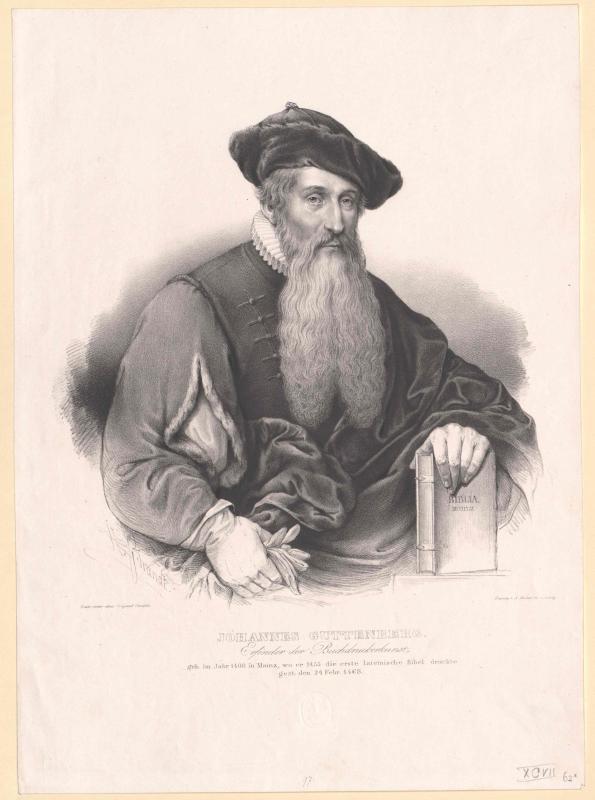 Gutenberg, Johann Gensfleisch von Kneisel, August