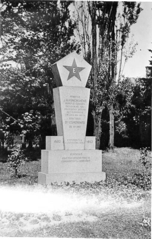 Esperanto-Gedenkstein, Ostrava nach 1952