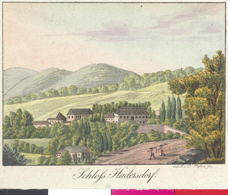 Ansicht des Schlosses Hadersdorf