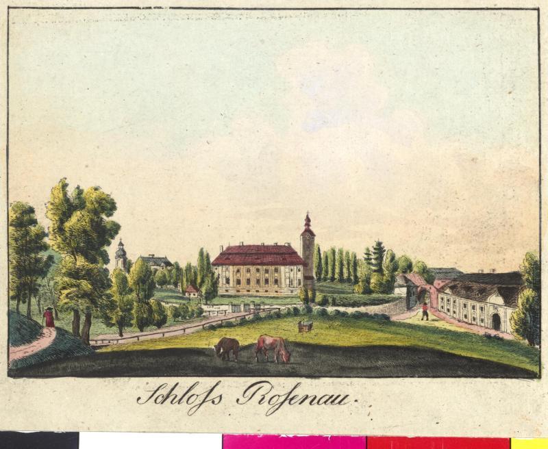 Ansicht  des Schlosses Rosenau