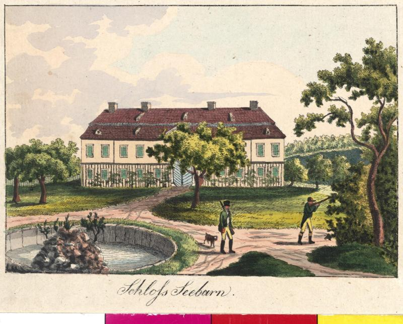 Ansicht des Schlosses Seebarn