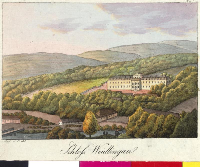 Ansicht des Schlosses Weidlingau