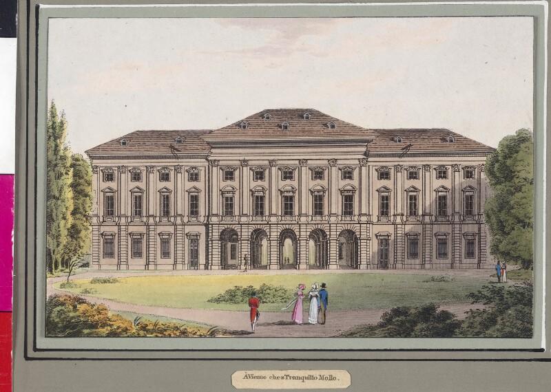 Palast des Fürsten Liechtenstein in der Rossau in Wien von Gurk, Eduard