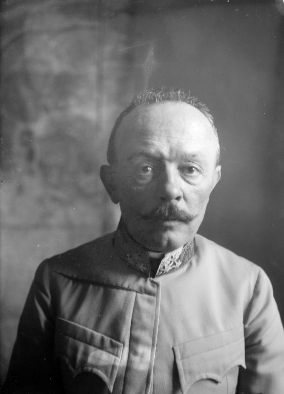 Feldmarschall Svetozar Boroevic von Bojna, General der Infanterie, Kommandeur der 5. Armee, Frontalaufnahme des Gesichts von K.u.k. Kriegspressequartier, Lichtbildstelle - Wien