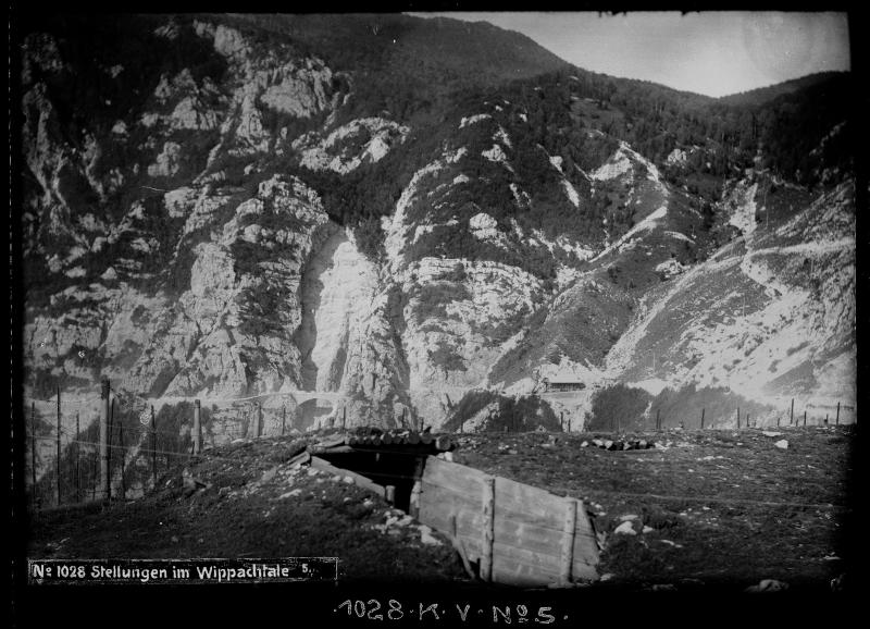 Stellungen im Wippachtal bei Predmeja von K.u.k. Kriegspressequartier, Lichtbildstelle - Wien