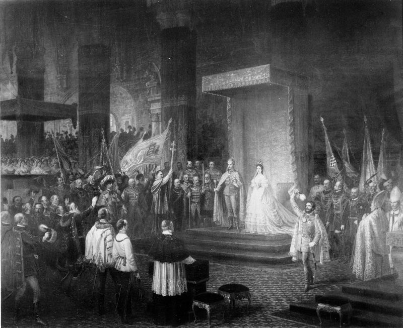Kaiser Franz Josef und Kaiserin Elisabeth nach der Krönung 1867 von Engerth, Eduard von