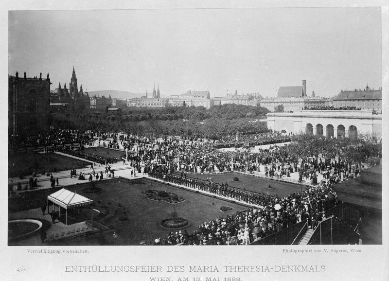 Wien 1, Enthüllung des Maria-Theresien-Denkmals von Angerer, Victor