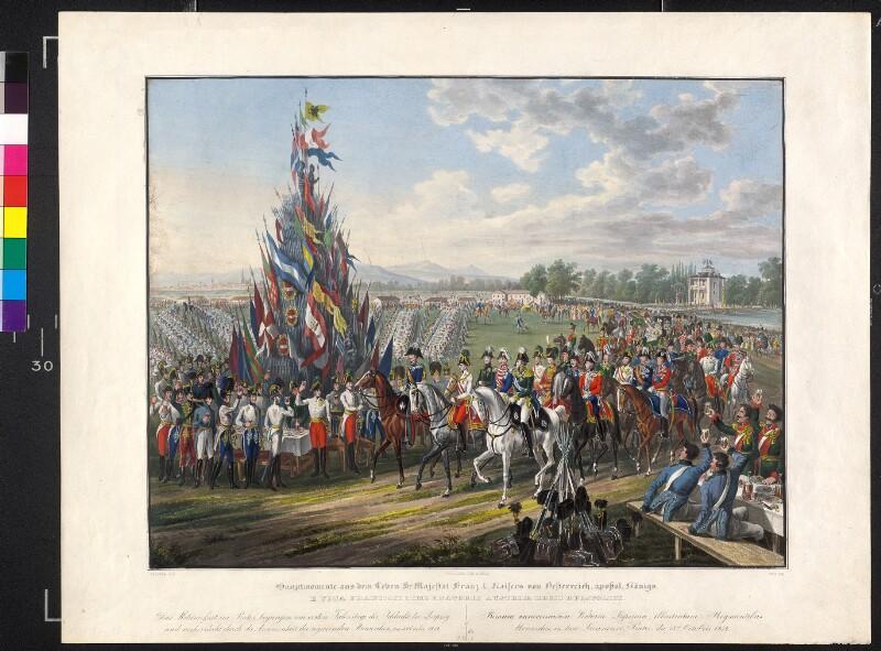 Fest im Prater zum Jahrestag der Völkerschlacht bei Leipzig 1814 von Hoechle, Johann Nepomuk