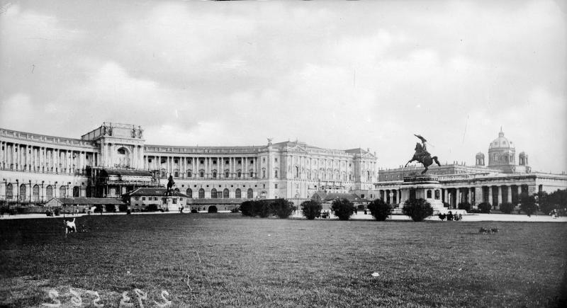 Wien 1, Ansicht der Neuen Burg kurz nach Vollendung von Ledermann, Postkartenverlag