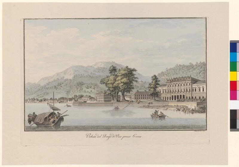 Veduta del Borgo di Vico presso Como von Mantelli, Girolamo