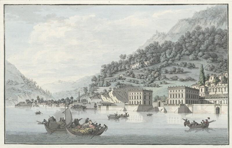 Veduta della Villa Tanzi in Perlasca presso Torno von Mantelli, Girolamo