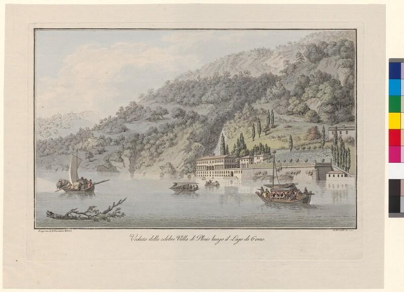 Veduta della celebre Villa di Plinio lungo il Lago di Como von Mantelli, Girolamo