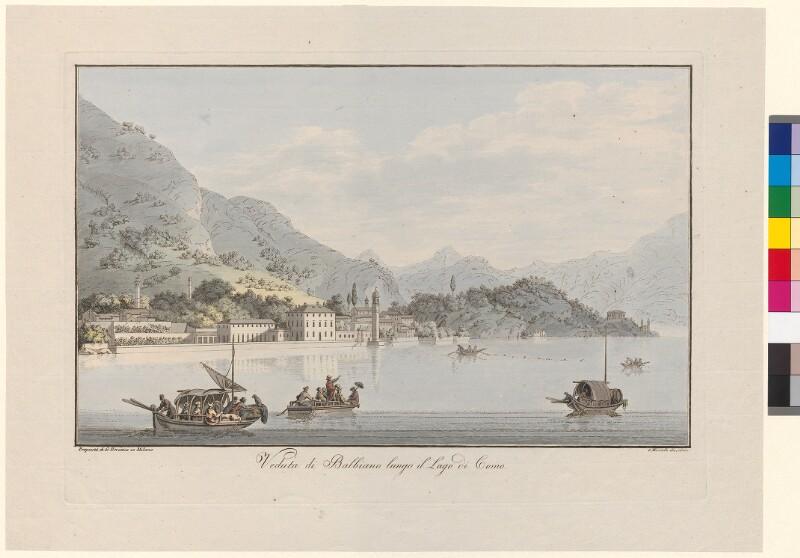 Veduta di Balbiano lungo il Lago di Como von Mantelli, Girolamo