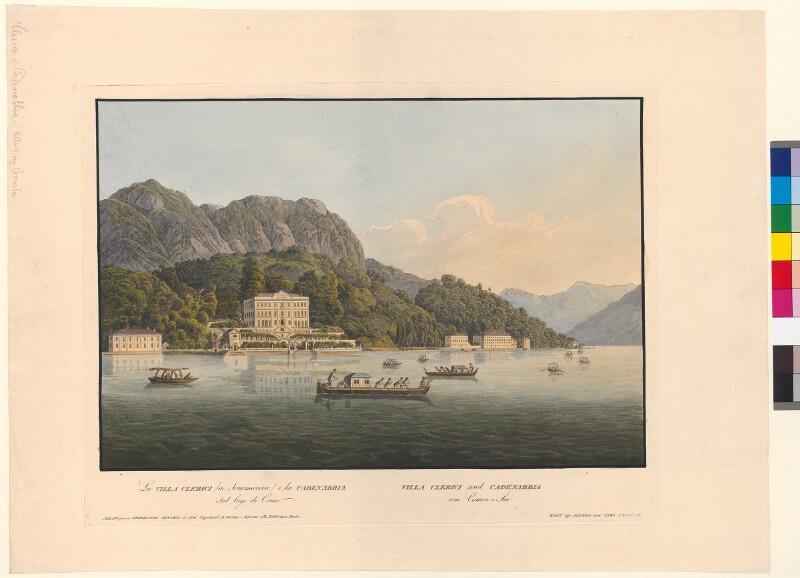 La Villa Clerici o Sommariva e la Cadenabbia sul Lago di Como. Villa Clerici und Cadenabbia am Comer-See