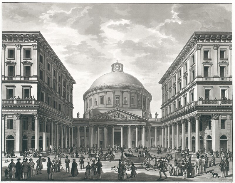 Scenografia del Tempio e della Piazza di S. Carlo lungo la Corsia de Servi in Milano von Angeli, Alessandro