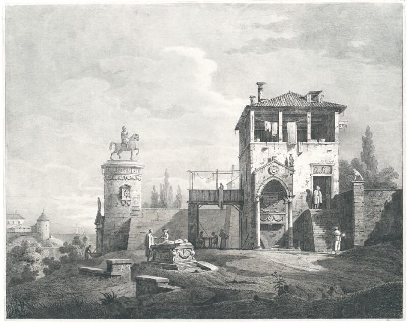 Eine Schenke bey Mestre nächst Venedig von Canal, Giovanni Antonio