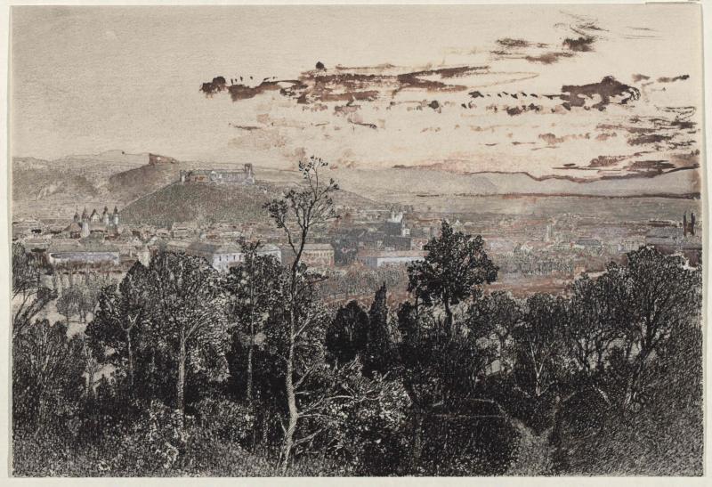 Ansicht der Stadt Laibach von Ruß, Robert