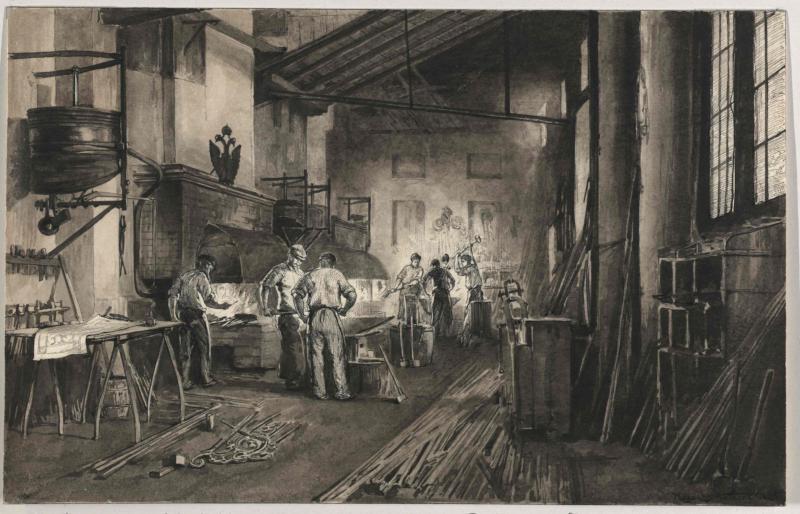 Bau- und Kunstschlosserei, Inneres von Charlemont, Hugo