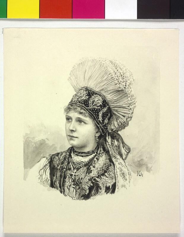 Typus einer Slowenin aus Krain von Charlemont, Hugo