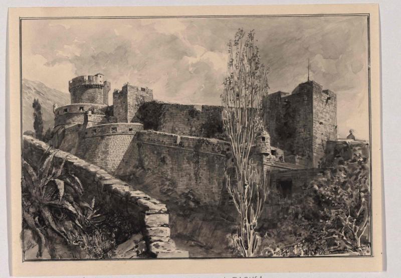 Turm Minceta ( Minčeta) in der Umfassungsmauer von Ragusa von Charlemont, Hugo