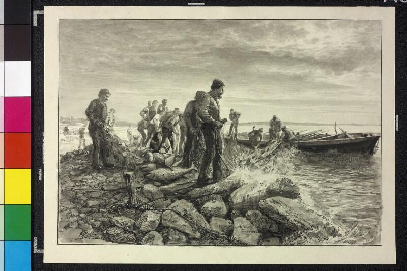 Thunfischfang bei Spalato (Split) von Charlemont, Hugo