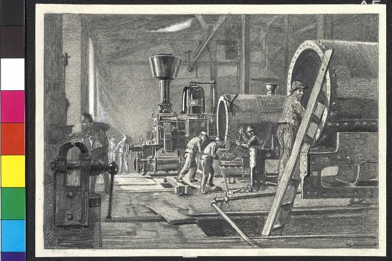 Lokomotivfabrik in Wiener Neustadt von Charlemont, Hugo
