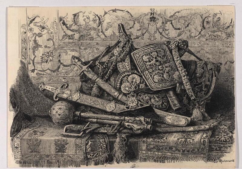 Waffen, Gürtel und Reitzeuge von Charlemont, Hugo