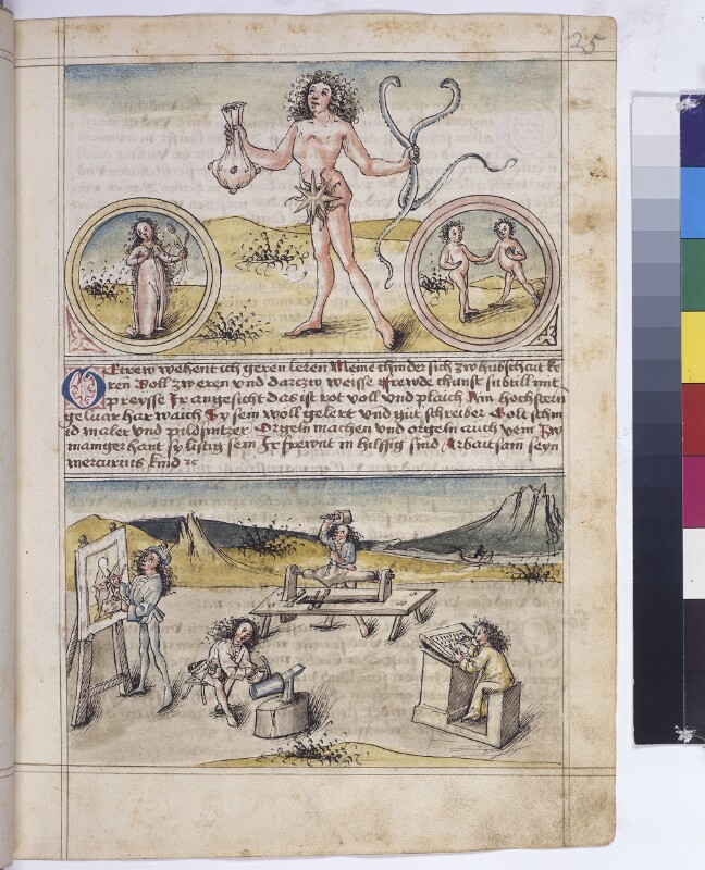 Cod. 3085, fol. 25r: Speculum humanae salvationis u. a.