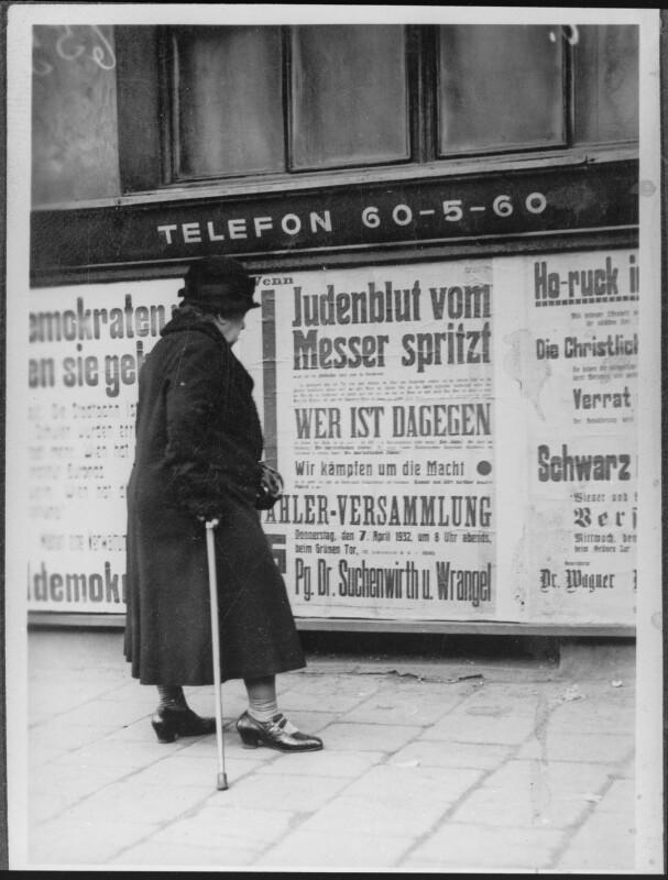 Nationalsozialistische Plakate in Wien