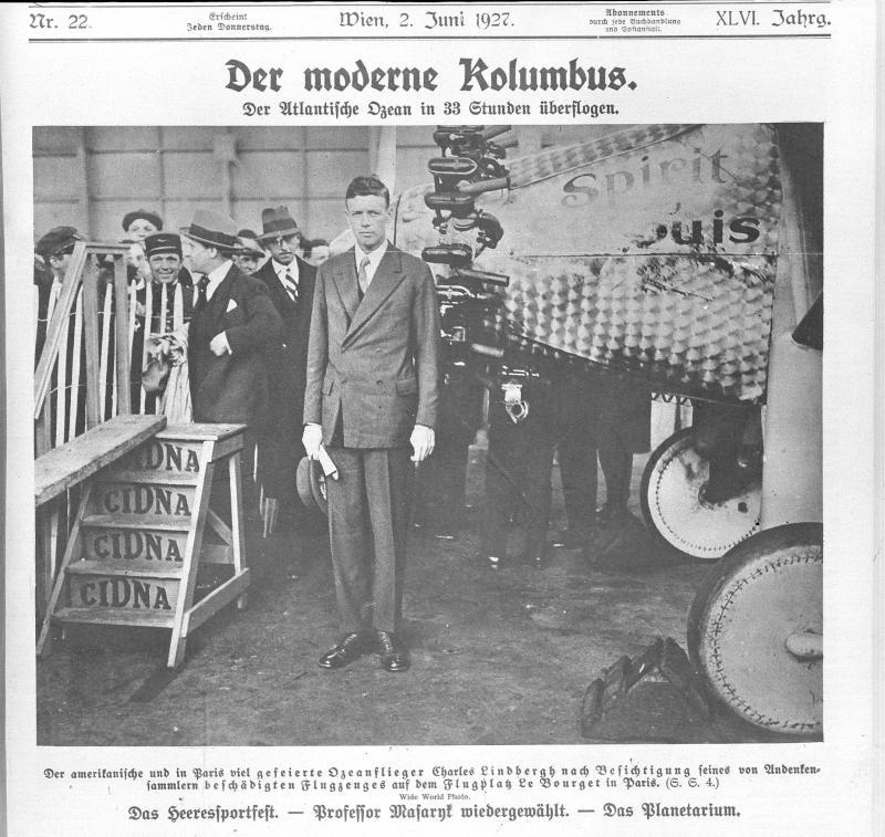 Lindbergh, Charles von Wide World Photo