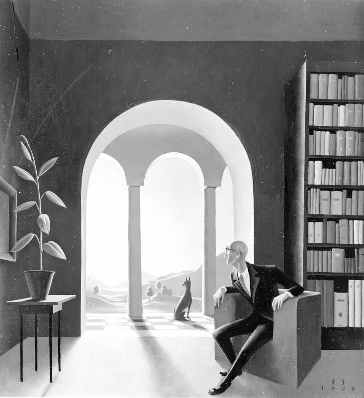 Blick aus der Bibliothek von Sedlacek, Franz