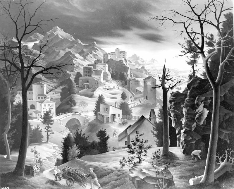 Landschaft mit Holzsammlern von Sedlacek, Franz